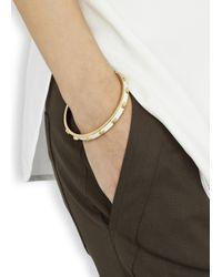Alexander McQueen   White Enamel Skull Bracelet   Lyst
