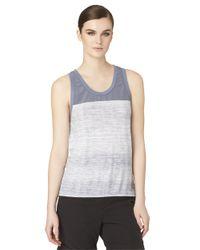 Calvin Klein Jeans | Blue Print Yoke Tank Top | Lyst