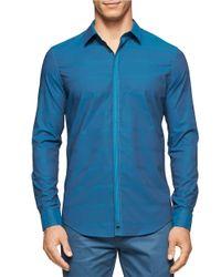 Calvin Klein | Blue Contrast Trim Sportshirt for Men | Lyst