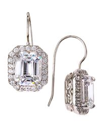 Fantasia by Deserio | Metallic Asscher-cut Cz Wire Dangle & Drop Earrings | Lyst