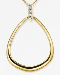 T Tahari - Metallic Pave Teardrop Pendant Necklace 18 - Lyst