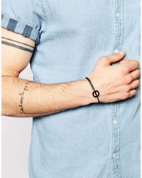 ASOS | Bracelet With Geometric Pendant In Black for Men | Lyst