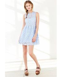 Kimchi Blue - Blue Medallion Fit + Flare Dress - Lyst