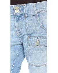 FRAME - Blue Le Garcon Patch Pocket Jeans - Lyst
