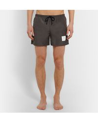 Thom Browne - Gray Mid-length Swim Shorts for Men - Lyst