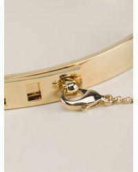 Eddie Borgo - Metallic Thin Safety Chain Choker - Lyst