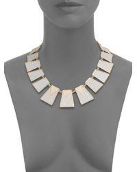 ABS By Allen Schwartz | Metallic Gold Coast Glitter Panel Collar Necklace | Lyst