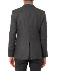 Lanvin - Gray Attitude-Fit Wool Blazer for Men - Lyst