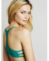 Free People | Green Side Cross Crop Bra | Lyst