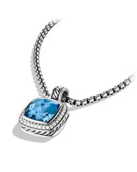 David Yurman | Blue Albion Pendant With Diamonds, 11mm Gemstone | Lyst