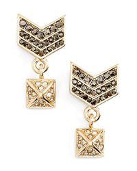 Rebecca Minkoff | Metallic Drop Earrings | Lyst