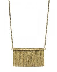 BaubleBar - Metallic Long Straight Edge Fringe Necklace - Lyst