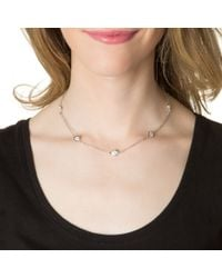 Kenneth Jay Lane | Metallic Classic Round Station Necklace | Lyst