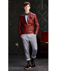 BOSS Orange | Red Leather Jacket 'jenik' In Goatskin for Men | Lyst