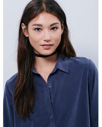 Free People | Blue Womens Isabella Shirt | Lyst