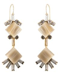 Marni - Metallic Diamond-shaped Earrings - Lyst