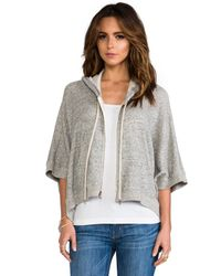 Enza Costa   Japanese Terry Poncho Hoodie in Gray   Lyst