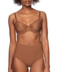 3185bd7b04d Nubian Skin Naked Moulded Bra in Brown - Lyst