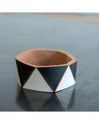 Lauren Manoogian | White Triangle Cuff | Lyst