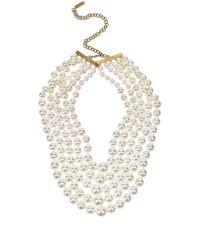 Fallon - Multicolor Monarch Pearl Bib Necklace - Lyst