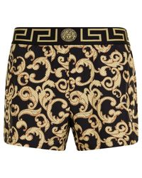 Versace - Black Greco Swimming Shorts for Men - Lyst
