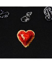b08b5b624d9d Lyst - Dolce   Gabbana Velvet Heart Knitted Jumper in Black for Men
