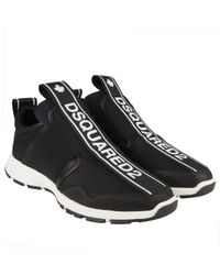 DSquared² Black Bronx Hip Hop Tape Sneakers for men
