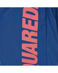 DSquared² - Blue Side Logo Swim Shorts for Men - Lyst