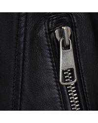 BOSS Orange - Black Biker Lambskin Nappa Leather Jacket - Lyst