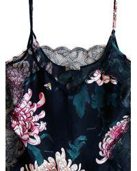 Fleur du Mal - Black Rose Lace Straight Cami - Lyst