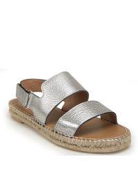 275 Central - Metallic Flat Sandal - Lyst
