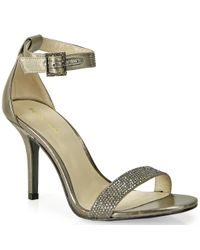 Pelle Moda | Metallic Rhinestone Sandal | Lyst