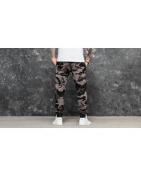 KTZ Gray Bng Fleece Track Golden State Warriors Pant Grey Camo for men