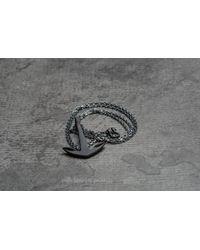 Footshop - Multicolor Miansai Anchor Necklace Noir Oxidized for Men - Lyst