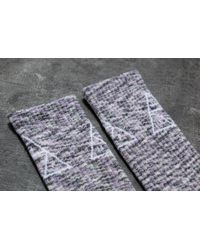 Huf - Gray Triple Triangle Melange Crew Sock Pink for Men - Lyst