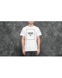 Vans Print Box Tee White-black for men