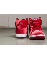 Nike - Red Dunk High Premium Sb - Lyst