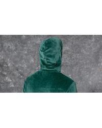 Stussy Velour Hood Green for men