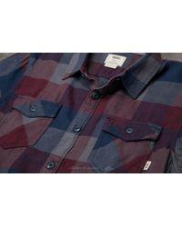 Vans Box Flannel Shirt Dress Blues-port Royale for men