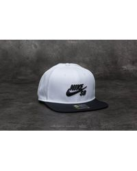e77776c4250 Lyst - Nike Sb Pro Cap White  Black in Black for Men