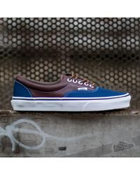 b7f95b5eac Lyst - Vans Era Leather Plaid Estate Blue  Potting Soil in Blue for Men
