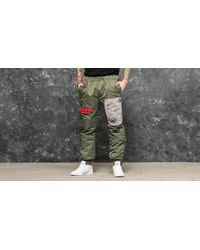 BBCICECREAM Green Nylon Flight Pant Olive for men