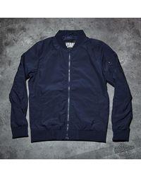 Footshop Blue Urban Classics Light Bomber Jacket Navy for men