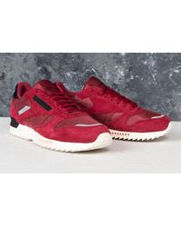 44d8445dbbb4 Lyst - Reebok Reebok Cl Leather Ripple Sn Urban Maroon  Chalk Pink ...