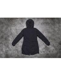 Footshop - Urban Classics Ladies Garment Washed Long Parka Black for Men - Lyst