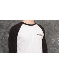 Stussy Double Dragon Raglan Tee White/ Black for men