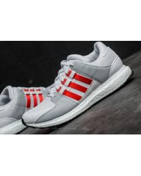 Adidas Originals - Gray Adidas Eqt Support Ultra Ftw White/ Bold Orange/ Clear Grey for Men - Lyst