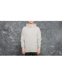 Footshop Gray Publish Terry Knit Hoodie Heather Grey for men