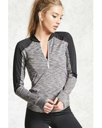 Forever 21 - Gray Active Marled Panel Pullover - Lyst