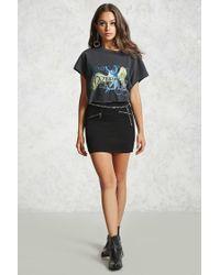 Forever 21 - Black Denim Mini Skirt - Lyst